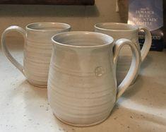 handmade mugs, white mugs, ceramic mugs, coffee mugs, pottery mugs, modern coffee mugs, contemporary mugs