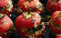 Vine Ripened Tomato Stuffed with Couscous Salad