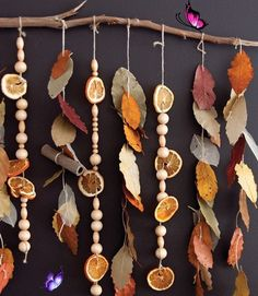 10 Adorable Autumnal DIY Projects For Your Home! Fall Preschool Art Activities: Leafy Cinnamon Stick Scented Sensory Autumn Classroom Nature Mobile.<br> Autumn is finally here - these adorable autumnal DIY craft ideas will bring the colors of fall into your home! Are you planning to make any of these? Kids Crafts, Fall Crafts For Kids, Thanksgiving Crafts, Art For Kids, Diy And Crafts, Home Crafts, Diy Autumn Crafts, Etsy Crafts, Recycled Crafts