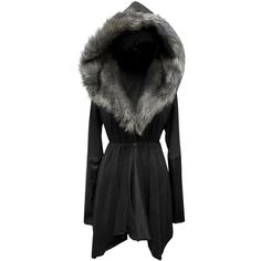 Ltd Edition October Colours   'Asylum Coat' - Vegan suede, leather and... ($279) ❤ liked on Polyvore featuring outerwear, coats, jackets, tops, dresses, faux leather coat, lightweight coat, sheepskin coat, vegan leather coat and fur-lined coats