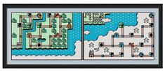 Remember the greatest game ever with this world map of the fifth world from Super Mario Bros. 3! Includes a DMC color chart, and a symbols over color pattern chart in an easy to read and printable PDF file. PDF files can be read on Adobe, which the Adobe Reader can be downloaded for free