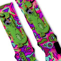 Reptar Rugrats Custom Nike Elite Socks