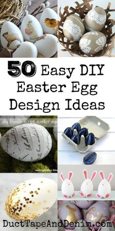 50 quick and easy DIY Easter egg design ideas! I know Easter eggs are for kids but these are great Easter crafts for adults. Easter Crafts For Adults, Easter Egg Crafts, Easter Eggs, Easter Ideas, Easter Stuff, Diy Osterschmuck, Easy Diy, Easter Egg Designs, Diy Easter Decorations