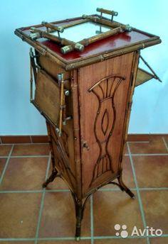 Старинный бамбуковый шкафчик кон.19-нач.20 вв— фотография №3