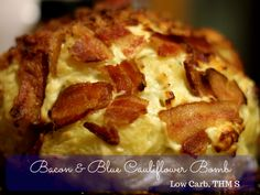 This Bacon & Blue Cauliflower Bomb is an impressive non starchy side for your holiday table. It has become a family favorite in our house. And the left overs (if you have any) Make an amazing breakfast hash with eggs.