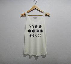 Moon Phase Tank Top Women Shirt Size S M L