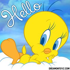 Hello Cartoon, Mickey Mouse Cartoon, Baby Looney Tunes, Looney Tunes Cartoons, Cartoon Quotes, Cartoon Pics, Bird Pictures, Cute Pictures, Tweety Bird Drawing