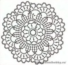 Motivi per uncinetto, small round crochet motif, doily or coaster Más Crochet Diy, Crochet Dollies, Crochet Round, Thread Crochet, Irish Crochet, Crochet Flowers, Crochet Stitches, Crochet Coaster, Motif Mandala Crochet