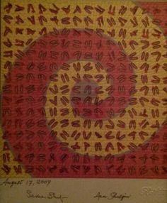 """Ruby Slippers"" by William Rafti One of four signed by Sasha and Ann Shulgin."