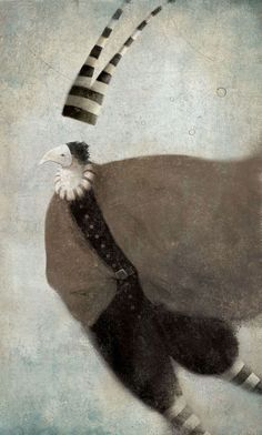 "Gabriel Pacheco - illustration for ""The Thief of Thieves"" for Cuentos de Grimm (Grimm Tales), issued by Spanish publisher Anaya"