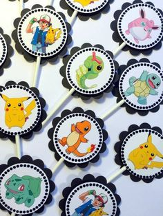 30 Pokemon Dimensional Cupcake Toppers *Ready to Ship* #Unbranded