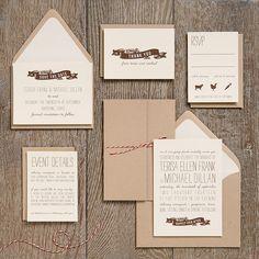 Craft paper option. Love the twine! Wedding Invitation Ideas | Paper Source