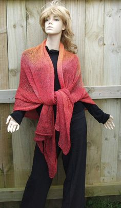 Hand dyed Lava Wrap so versatile by GayleGoriginals on Etsy