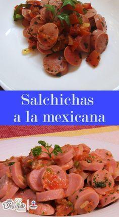 Receta fácil de salchichas a la mexicana   CocinaDelirante