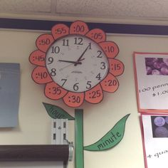 Teaching time classroom: Wouldn't it be cute if you could put the hour leaf on the hour hand and the minute leaf on the minute hand. You would have to take the face of the clock off, but I think it would help to explain things nicely.   # Pin++ for Pinterest #