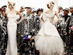 Vivienne Westwood Gowns, The Pearly King & Queens, Mario Testing - UK Vogue, 2011, Vicki Archer