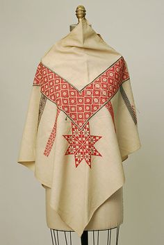 Poncho ~ 1930-1941 ~ Mexico ~ Metropolitan Museum of Art ~ Embroidery had been in process prior to museum acquisition.