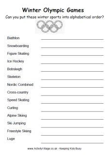 Winter Olympics alphabetical order, several olympics worksheets Winter Olympics 2014, Winter Olympic Games, Summer Olympics, Theme Sport, Olympic Idea, Olympic Crafts, First Grade Activities, Summer Reading Program, Camping Games