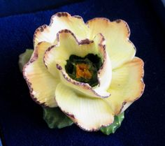 Vintage Dorothy Ann China Flower Brooch Hand by TheWhistlingMan, £15.00