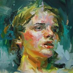 Film Girl 2 by Paul Wright Painting People, Figure Painting, Painting & Drawing, L'art Du Portrait, Abstract Portrait, Portrait Paintings, Paul Wright, Beautiful Paintings, Figurative Art