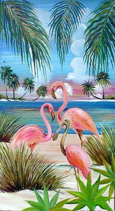 Betsi Burgess Flamingos
