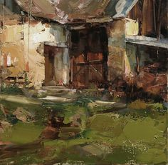 An Ancient Luck by Tibor Nagy Oil ~ 13,7 x 13,7