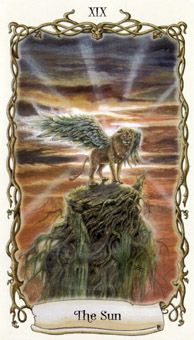 April 6 Tarot Card: The Sun! (Fantastical Creatures deck) Absorb the light and enjoy freedom to express yourself