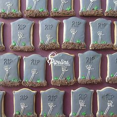 Tombstone Cookies with skeleton hands!