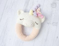 Instant download - --- This listing is only a PDF PATTERN, not a finished product --- Unicorn Rattle could become a super cute friend for your baby! Loop design makes it is easy for little hands to grab and play. In this PDF Pattern youll find detailed instructions and photos which would