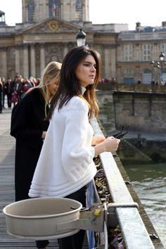 Kendall Jenner - March 6th: Visiting The Pont De L'Archevêché In Paris