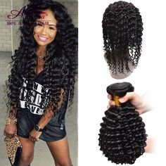 360 Lace Frontal With Bundle Indian Curly 360 Lace Virgin Hair Deep Wave With Closure 360 Frontal With Bundles Black Friday Sale *** Click the VISIT button to find out more