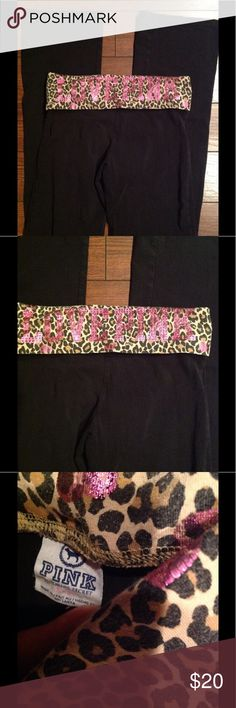 Victoria Secret Yogas S! Faded used condition, no trades!! PINK Victoria's Secret Pants Boot Cut & Flare