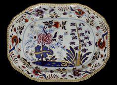 Dish of 'new stone' earthenware, imari pattern, Spode Ceramic Works, Stoke-on-Trent, ca. 1820
