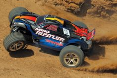 The Traxxas Nitro Rustler is the first name in high performance nitro stadium trucks. Powered by the proven performance of the TRX Racing Engine. Rc Cars And Trucks, Rc Autos, 1 10 Scale, Trx, Monster Trucks, Racing, Vehicles, Engine, Future