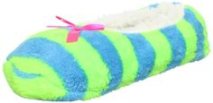 Jacques Moret Women`s Neon Stripe Fuzzy Babba Slipper Socks.   ( I have 2 pairs of these and I love them, wear as a house shoes or just Footies and sleep with them on!  ) So Comfy