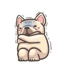 French Bulldog PIGU-Sticker VIII Gif Pictures, Pictures To Draw, Bulldog Gif, Funny Bulldog, Kawaii Stickers, Funny Stickers, Gif Lindos, Gifs, Funny Bears