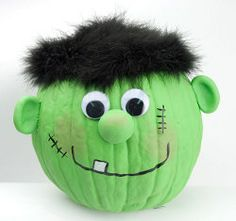 Frankenstein Pumpkin  http://www.favecrafts.com/Halloween-Kids-Crafts/Frankenstein-Pumpkin-from-DecoArt/ct/1