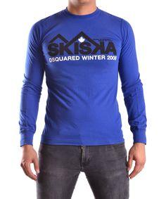 DSQUARED2 Dsquared2 Men'S  Blue Cotton T-Shirt'. #dsquared2 #cloth #t-shirts