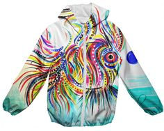Kids Rain Jacket. Florida Artist Kimberly Sumerel. PAOM Design. Available for purchase.