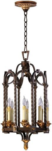 Entry Pendant Chandelier CYAN DESIGN SAN GIORGIO 8-Light Oiled Bronze Wro CY-796