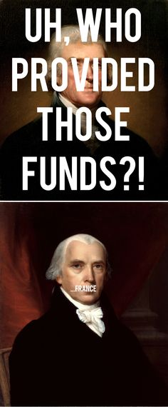 Uh, who provided those funds?! [France.] #hamilton