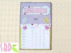 Scrapbooking tutorial: Calendario sweet 2012 - 2012 DIY Calendar
