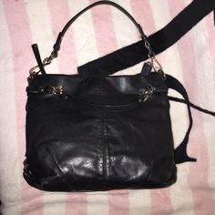 Coach black soft leathersale authentic coach purse is so soft and it's in such perfectly new condition, still has that new coach leather smell, see measurements in threadget this for discounted in bundle sale Coach Bags