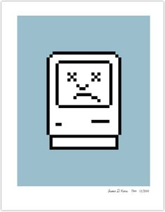 Mac Iconography Poster: Unhappy Computer- making these signs for the computer lab when a computer goes down