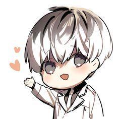 Haise is so kawaii desu Anime Chibi, Kaneki Chibi, Chibi Tokyo Ghoul, Ken Kaneki Tokyo Ghoul, Chibi Boy, M Anime, Cute Chibi, Anime Guys, Tokyo Ghoul Wallpapers