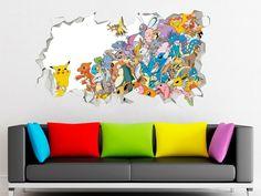 Teen Titans Adventure Wall Decal Kids Decor Smashed 3D Sticker Art Vinyl AH483