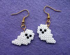 Handmade Ghost Earrings Mini Hama Beads Retro Cloud | eBay