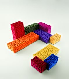 Found Michetta – funky upholstered seating modules designed by Gaetano Pesce for Mer Italia at Design Conscious. Home Deco Furniture, Vintage Furniture Design, Funky Furniture, Unique Furniture, Kids Furniture, Furniture Stores, Wrought Iron Patio Chairs, 3d Studio, Italian Furniture