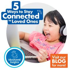 As if it wasn't hard enough to connect with loved ones before school started this year, in-person and online classes leave little time for kids to visit with relatives and friends (if they were even able to do so safely before!). But keeping kids connected with loved ones is more critical now than ever! Here are 5 fun ways to stay connected with loved ones! #momblog #educationalinsights #virtualgames #snailmail #familyfun #keepingkidsconnected #blogtips #familytogetherness #virtualplay How To Show Love, Show And Tell, After School, School Fun, Magazine Subscriptions For Kids, New Years With Kids, Kid Friendly Vacations, Arts And Crafts Kits, At Home Science Experiments