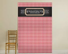 Personalized Photo Backdrop - BBQ | By Kate Aspen